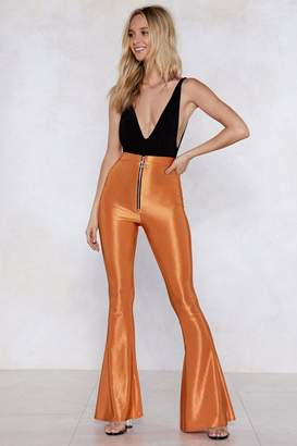 Nasty Gal You're Mighty Shine Flare Pants