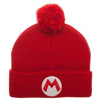 Bioworld Nintendo Super Mario Pom Beanie Knit Hat