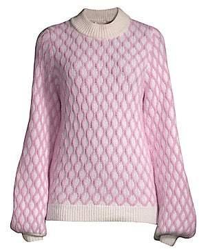 Stine Goya Women's Carlo Two-Tone Patterned Sweater