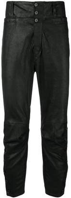 Ann Demeulemeester side-slits buttoned trousers