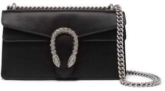 Gucci Dionysus Satin Shoulder Bag - Black