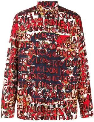 Burberry graffiti print shirt