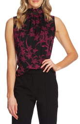 Vince Camuto Smock Neck Sleeveless Top