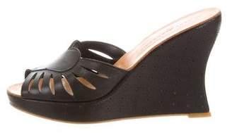 Robert Clergerie Ponyhair-Trimmed Slide Sandals geniue stockist online footlocker cheap price outlet huge surprise osdKkCv