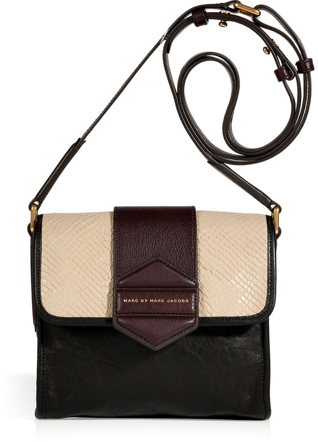 Marc by Marc Jacobs Black and Tan Multicolor Crossbody Bag
