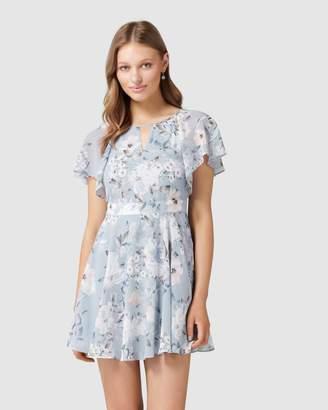 Petite Venice Flutter Sleeve Dress