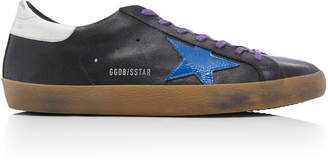 Golden Goose Super Star Black Leather Sneakers