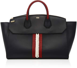 Bally Sommet Crochet Leather Tote