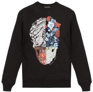 Alexander McQueen Patchwork Skull Print Sweatshirt - Mens - Black Multi