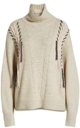Caslon Cable Knit Sweater