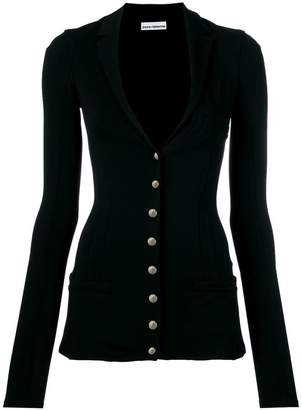 Paco Rabanne fitted low v-neck blazer