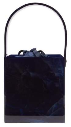 Montunas Stelis Marbled Acrylic Box Bag - Womens - Navy