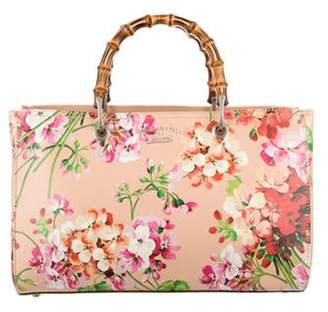 Gucci Blooms Bamboo Shopper Tote multicolor Blooms Bamboo Shopper Tote