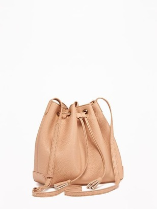 Faux-Leather Bucket Bag for Women $34.94 thestylecure.com
