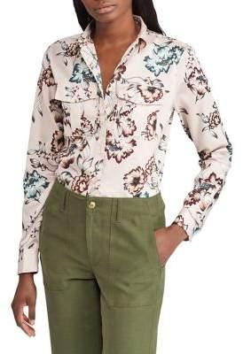 Lauren Ralph Lauren Petite Floral Cotton Sateen Button-Down Shirt