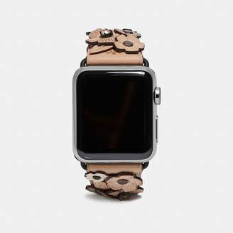 Coach Apple Watch Strap With Crystal Tea Rose