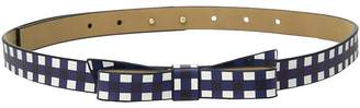 Kate Spade 5/8 Gingham Printed Classic Bow Belt