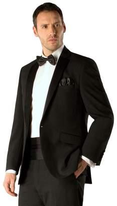 Green & Black Racing Green - Black Plain Weave Regular Fit 1 Button Dresswear Jacket