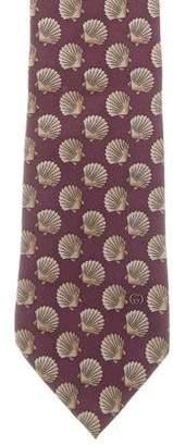 Gucci Silk Seashell Print Tie