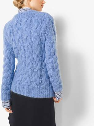 Michael Kors Hand-Knit Cable Mohair Sweater