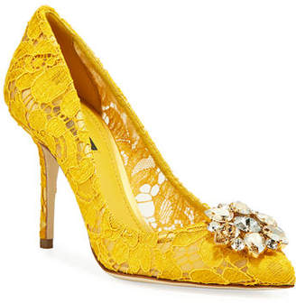 4cd83bb9ed4 Dolce   Gabbana Yellow Pumps - ShopStyle