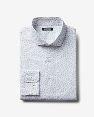 Express Slim Small Floral Dress Shirt