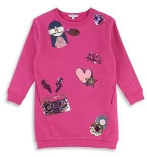 Little Marc Jacobs Little Girl's& Girl's Sequin Detail Sweater Dress