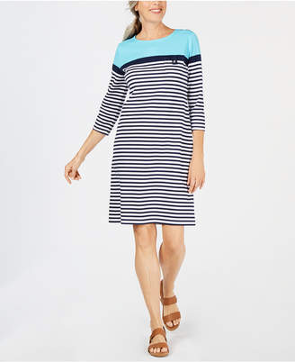 Karen Scott 3/4-Sleeve Lola Dress