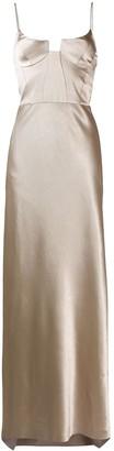 Galvan Phoebe bustier evening dress