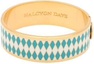 Halcyon Days Gold Plated Diamond Parterre Bangle