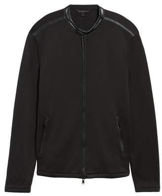 John Varvatos French Terry Zip Front Jacket