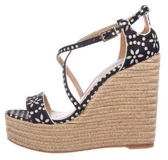 Tabitha Simmons Satin Espadrille Wedges