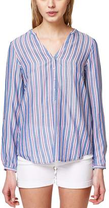 Esprit Long-Sleeved Striped V-Neck Tunic
