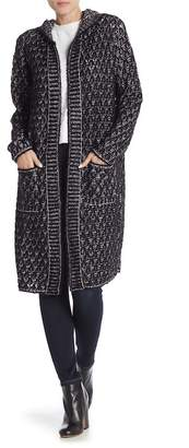 Joseph A Hooded Long Sleeve Cardigan