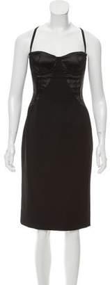 Dolce & Gabbana Virgin Wool Bustier Dress
