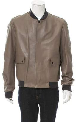 Balenciaga Leather Bomber Jacket w/ Tags