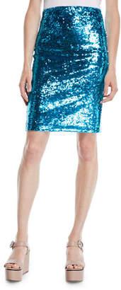 Alice + Olivia Ramos Sequin Pencil Skirt