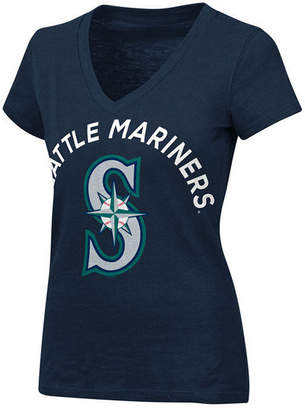 G-iii Sports Women's Seattle Mariners Classic Logo V-Neck T-Shirt