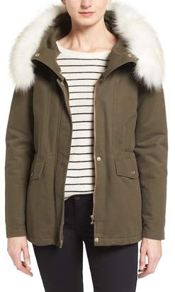 T Tahari Tahari 'Jackie' Hooded Anorak with Removable Faux Fur Trim $248 thestylecure.com
