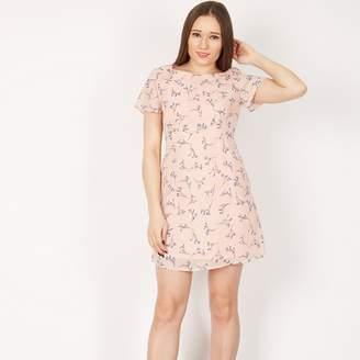 MISSTRUTH - Multicoloured Short Sleeved Flared Skirt Mini Dress