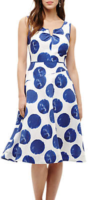 Phase Eight Briella Spot Dress, Blue/Multi