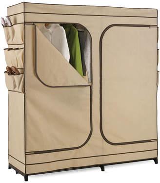 Honey-Can-Do Double-Door Clothing Storage Closet w/ Shoe Organizer