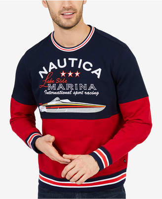 Nautica Men's Colorblocked Sweatshirt, Created for Macy's