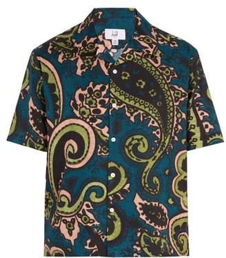 Dunhill Paisley Print Short Sleeved Cotton Shirt - Mens - Multi