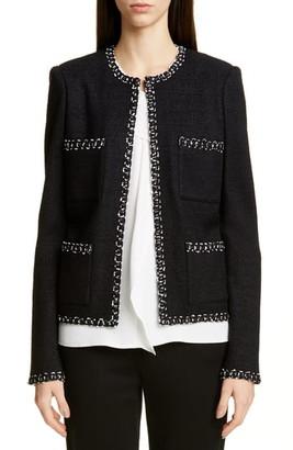 St. John Modern Ribbon Tweed Knit Jacket