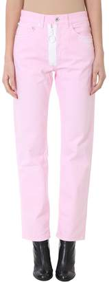 Off-White Straight Leg Pink Jeans