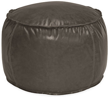 Room & Board Otto Round Leather Pouf