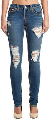 True Religion WOMENS DESTROYED BIG T STELLA SKINNY JEAN