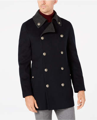 Tallia Men Big & Tall Slim-Fit Navy Solid Peacoat