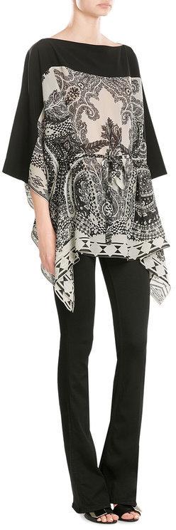 EtroEtro Printed Silk Tunic